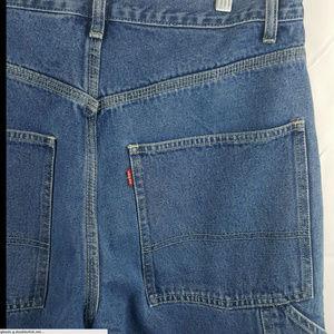 Levis Carpenter Blue Jeans Denim Wide Leg Mens 32x